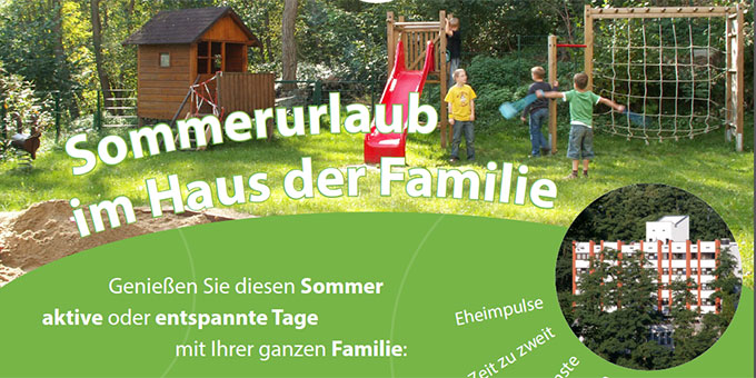 Sommerurlaub im Haus der Familie